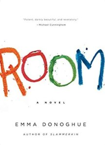Room cover, the word room written in different colors of crayon
