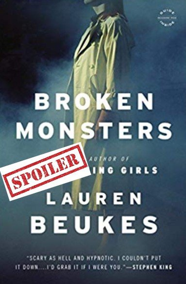 Broken monsters cover with spoiler tag notice
