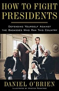 how to fight presidents book cover, featuring some presidents