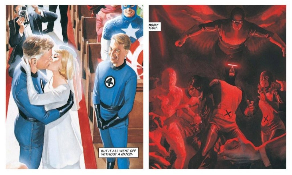 fantastic four wedding opposed to scary xmen