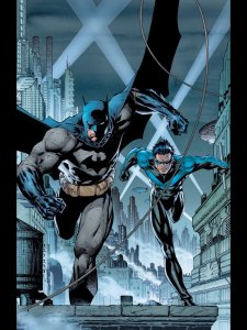 Batman and Dick Grayson running at you!