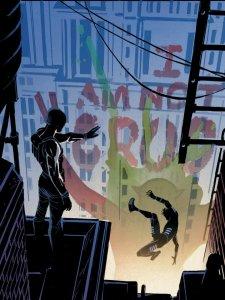 Muse pushing Blindspot off a building