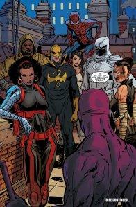 Daredevil, Misty Knight, Echo, Moon Knight, Luke Cage, Iron Fist, Jessica Jones, Spiderman