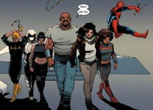 Iron Fist, Moon Knight, Echo, Luke Cage, Jessica Jones, Misty Night, and Spiderman