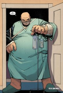 Wilson Fisk in a hospital gown